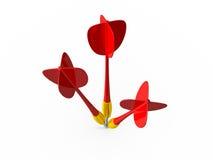 Gruppo di frecce rosse del dardo Immagini Stock Libere da Diritti