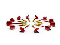 Gruppo di frecce rosse del dardo Fotografie Stock