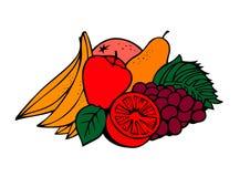 Gruppo di frutta Immagini Stock Libere da Diritti