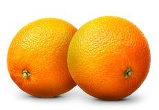 Gruppo di frutta arancio isolato su fondo bianco Immagine Stock Libera da Diritti
