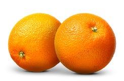 Gruppo di frutta arancio isolato su fondo bianco Immagine Stock