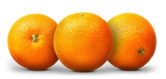Gruppo di frutta arancio isolato su fondo bianco Fotografia Stock