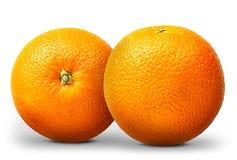 Gruppo di frutta arancio isolato su fondo bianco Fotografie Stock Libere da Diritti
