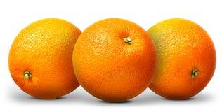 Gruppo di frutta arancio isolato su fondo bianco Immagini Stock