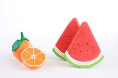 Gruppo di frutta del plasticine Fotografia Stock