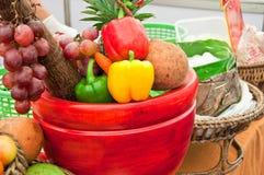 Gruppo di frutta e di verdura Fotografia Stock