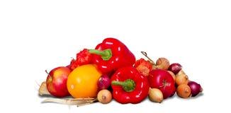 Gruppo di frutta e di verdure Immagine Stock