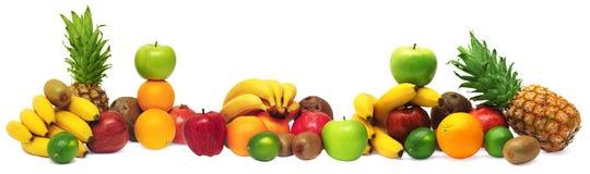 Gruppo di frutta fresca Fotografia Stock