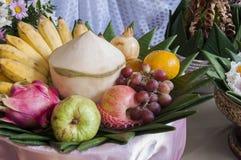 Gruppo di frutta tailandese. Fotografie Stock