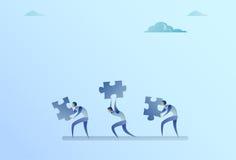 Gruppo di gente di affari di concetto di Carry Puzzle Parts Teamwork Cooperation royalty illustrazione gratis