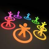 Gruppo di gente Colourful illustrazione vettoriale