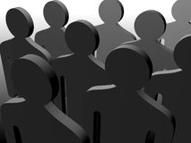 Gruppo di gente dell'anonimo Fotografia Stock