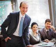 Gruppo di gente di affari all'ufficio Fotografia Stock Libera da Diritti