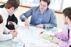 Gruppo di gente di affari alla riunione Immagini Stock Libere da Diritti