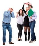 Gruppo di gente di affari arrabbiata Fotografie Stock Libere da Diritti