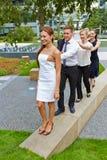 Gruppo di gente di affari camminare Fotografia Stock