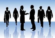 Gruppo di gente di affari che interagisce Fotografia Stock Libera da Diritti