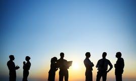 Gruppo di gente di affari che lavora insieme Immagine Stock Libera da Diritti
