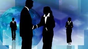 Gruppo di gente di affari che mostra lavoro di squadra illustrazione vettoriale