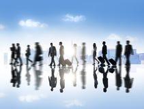 Gruppo di gente di affari con il concetto di viaggio d'affari Fotografia Stock Libera da Diritti