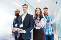 Gruppo di gente di affari con il leader della squadra Immagine Stock