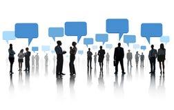 Gruppo di gente di affari con rete sociale Immagine Stock Libera da Diritti