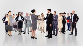 Gruppo di gente di affari di riunione stock footage
