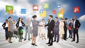 Gruppo di gente di affari di riunione illustrazione di stock