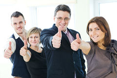 Gruppo di gente di affari felice Fotografia Stock