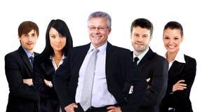 Gruppo di gente di affari. Isolato sopra fondo bianco Fotografia Stock