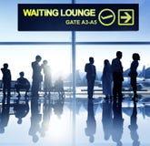 Gruppo di gente di affari nell'aeroporto Fotografia Stock
