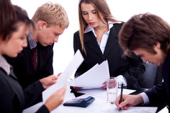 Gruppo di gente di affari sul lavoro Immagini Stock
