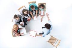 Gruppo di gente di affari in una riunione Fotografie Stock Libere da Diritti