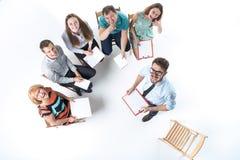 Gruppo di gente di affari in una riunione Fotografia Stock