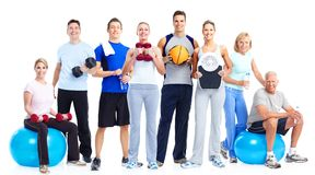 Gruppo di gente di forma fisica Immagini Stock