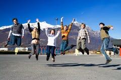 Gruppo di gente di salto Immagini Stock