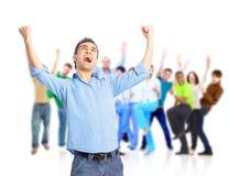 Gruppo di gente felice Fotografia Stock Libera da Diritti