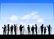 Gruppo di gente Multi-etnica Fotografia Stock