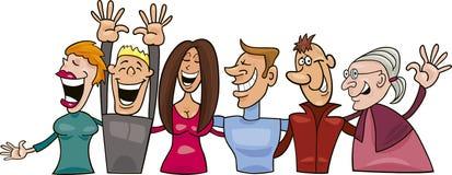 Gruppo di gente sorridente Fotografia Stock Libera da Diritti