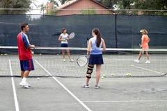 Gruppo di giocatori di tennis Immagini Stock