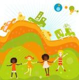 Gruppo di gioco dei bambini illustrazione di stock