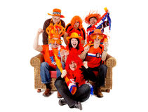 Gruppo di gioco di sorveglianza olandese del ventilatore di calcio Fotografia Stock Libera da Diritti