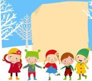 Gruppo di gioco e di telaio dei bambini Fotografia Stock Libera da Diritti