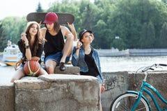 Gruppo di giovane adolescente Fotografia Stock Libera da Diritti