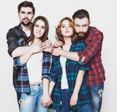Gruppo di giovani e di donne felici Fotografia Stock