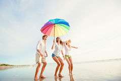 Gruppo di giovani felici divertendosi sul Fotografia Stock