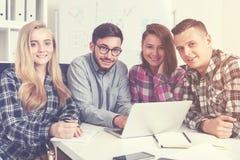 Gruppo di giovani fondatori startup Fotografia Stock Libera da Diritti