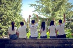 Gruppo 6 di graduazione Immagini Stock Libere da Diritti