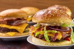 Gruppo di hamburger fotografia stock libera da diritti