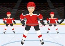 Gruppo di hockey su ghiaccio maschio Fotografia Stock Libera da Diritti